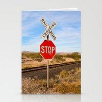 megan lara Stationery Cards featuring Megan by ChristyVegas
