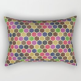 Colorful Seamless Hexagon Geometric Pattern Rectangular Pillow