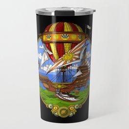 Steampunk Air Balloon Travel Mug