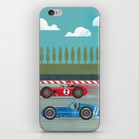racing iPhone & iPod Skins featuring Retro Racing by We are three fish