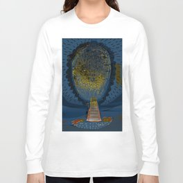 Tree Cactus in a Blue Desert Long Sleeve T-shirt