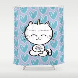 Lily Unicorn Kitty Shower Curtain