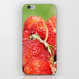 Plate with strawberry iPhone Skin