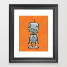 Silly Robot Framed Art Print