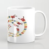 hydra Mugs featuring LERNAEAN HYDRA by Villie Karabatzia