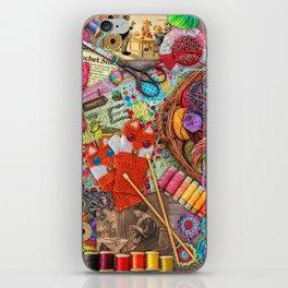 Vintage Yarn & Thread iPhone Skin