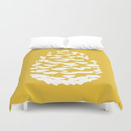Pinecone Mustard Yellow Duvet Cover