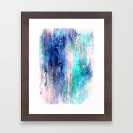 Winter Abstract Acrylic Textured Painting Framed Art Print