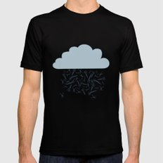 IT'S RAINING BLADES Mens Fitted Tee Black MEDIUM