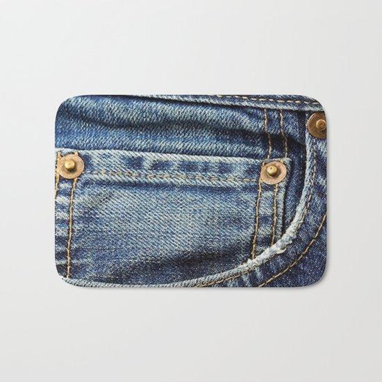 Texture #17 Jeans Bath Mat