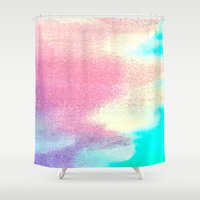 clear Shower Curtains featuring Crystal Clear by HollyJonesEcu