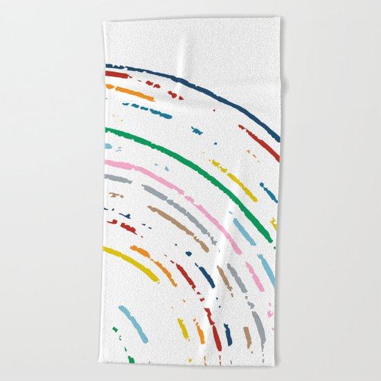 Rainbow Part Disc Beach Towel
