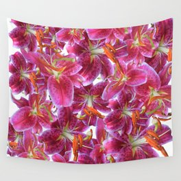 Extra stargazer lilly Wall Tapestry