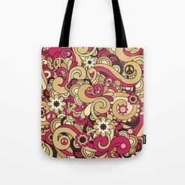 Vintage Hippie Swirl Pattern Tote Bag