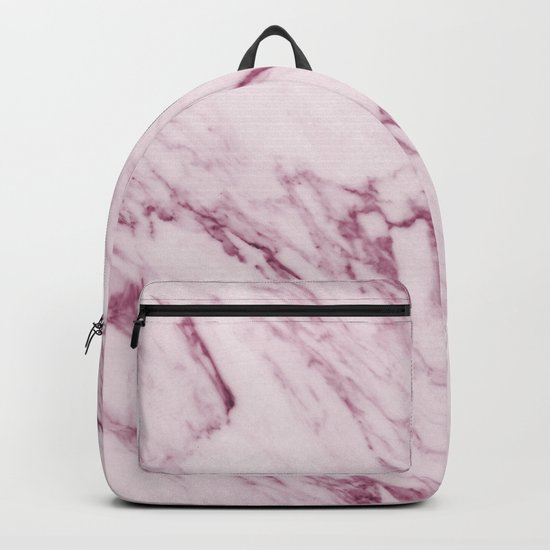 Mauve Pink Marble Backpack