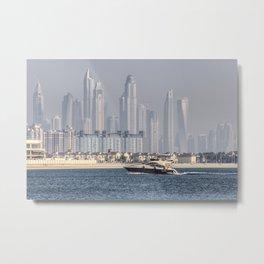 Dubai Yacht And Architecture Metal Print