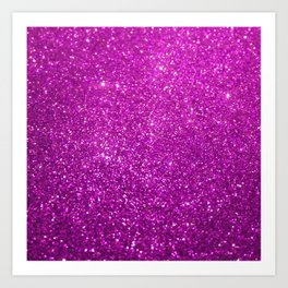 Purple Glitter Shiny Sparkley Art Print