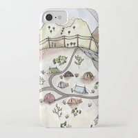 camp iPhone & iPod Cases featuring Desert Camp by Brooke Weeber