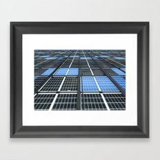 Solar Panel Wall Framed Art Print