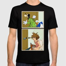 KINGDOM HEARTS: WINNIE THE POOP LARGE Black Mens Fitted Tee