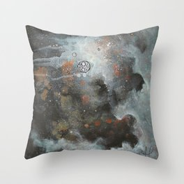 Twice Mooned Throw Pillow