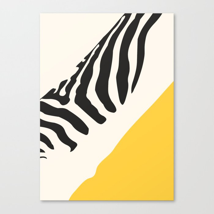 Zebra Abstract Leinwanddruck