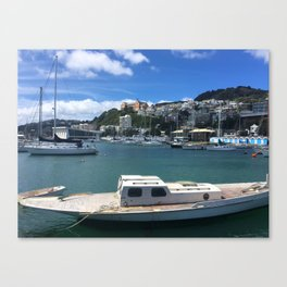 Old Wooden Boat Canvas Print