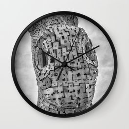 Looking Down. Wall Clock