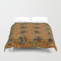 floral pattern Duvet Covers featuring Floral pattern by dominiquelandau