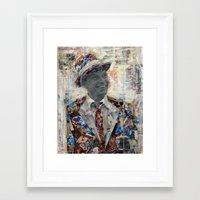 frank Framed Art Prints featuring Frank by Katy Hirschfeld