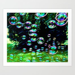 Dream Bubbles | Painting  Art Print