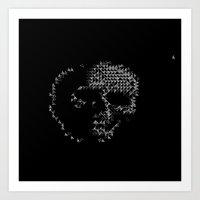 Triangular Skull Art Print