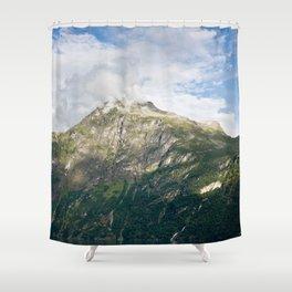 Fuming mountain Shower Curtain