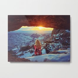 Reminiscing at sunset Metal Print