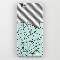 Ab Lines 45 Mint iPhone & iPod Skin