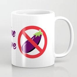 "Aubergine Nightmare ""No Eggplant"" Logo Coffee Mug"