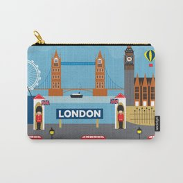 London, England - Collage Illustration by Loose Petals Carry-All Pouch