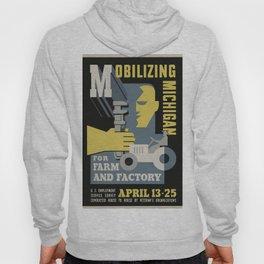Vintage poster - Mobilizing Michigan Hoody