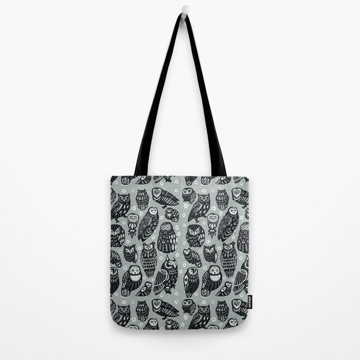 Flock of Owls Tote Bag