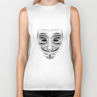 anonymous Biker Tanks featuring Anonymous by Tuyệt Duyệt