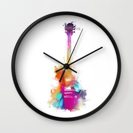Funky Guitar Wall Clock