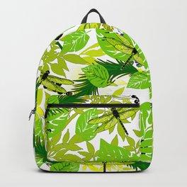 PALM LEAF GREEN DRAGONFLY Backpack