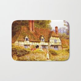 Vintage Country Cottage Estate Bath Mat