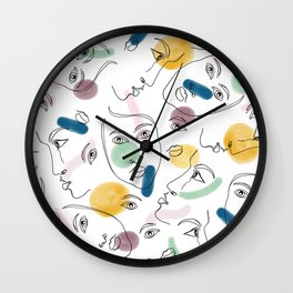 Female Portraits Wall Clock