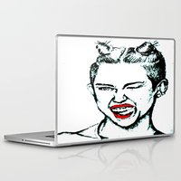 miley cyrus Laptop & iPad Skins featuring Miley Cyrus  by Clairenisbet