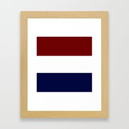 Team Colors 8....Maroon , navy and white Framed Art Print