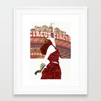 ruby Framed Art Prints featuring Ruby by Kats Illustration