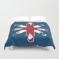 fandom Duvet Covers featuring [ Fandom ] Sherlock Harry Potter Merlin Doctor Who Bond Life on Mars Cornetto Trilogy Misfits by Vyles