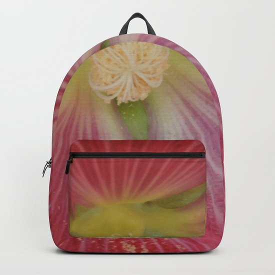 Heart of a Hollyhock Blossom Backpack