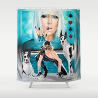 poker Shower Curtains featuring POKER FACE by CARLOSGZZ